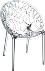 Thermo Plastic Crystal Chair - Clear